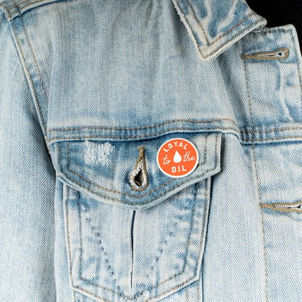 Alberta Pin co_Loyal Enamel Pin Orange