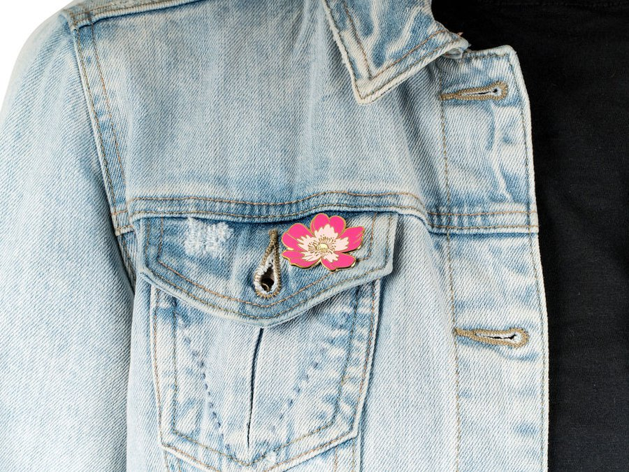 Crystal Drieger Illustration_Wild Rose Pin