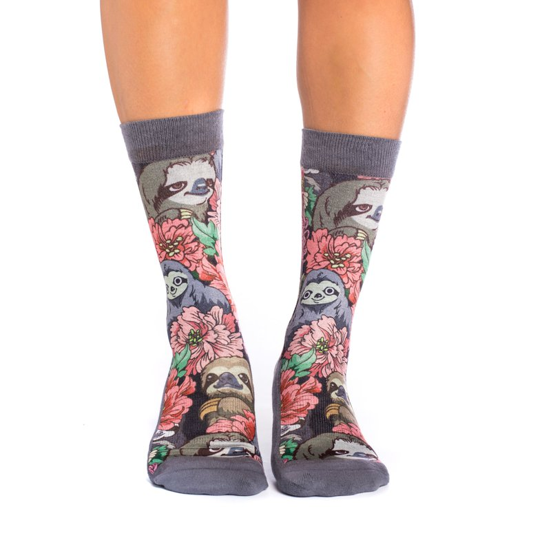 Good Luck Sock_Floral Sloth Socks_