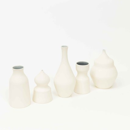 Hand Thrown Porcelain Vases