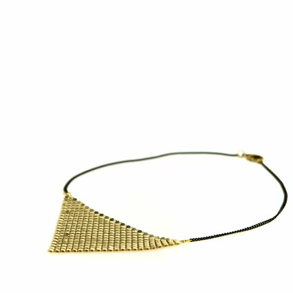 Lord Violet_A Classy Bitch Metal Mesh Necklace_06704