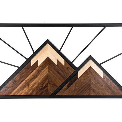 MollyWolly Woodworking_Mountain Wall Art