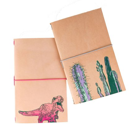 Ochre Lea_Silkscreened Leather Notebook