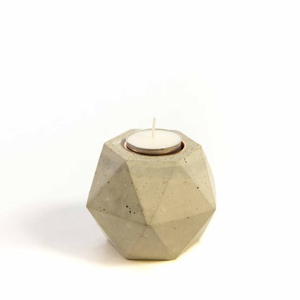 Ryspot Design_Facets Concrete Candle Holder_8686