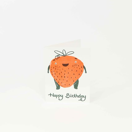 Strawberry Birthday Card