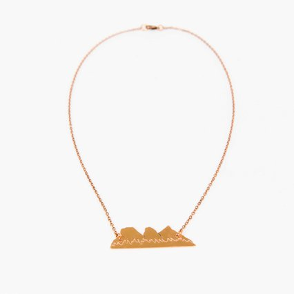 Three Sisters Mountain Range Necklace