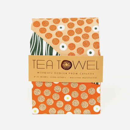 Wedge tea towel